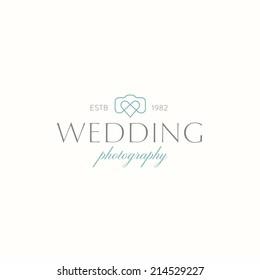 Wedding photography symbol, logo template