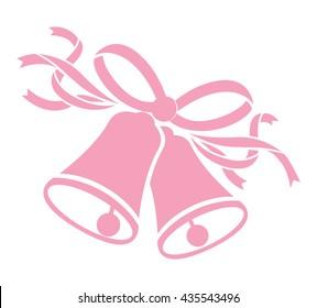 wedding pink bells