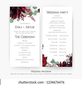 wedding program images stock photos vectors shutterstock