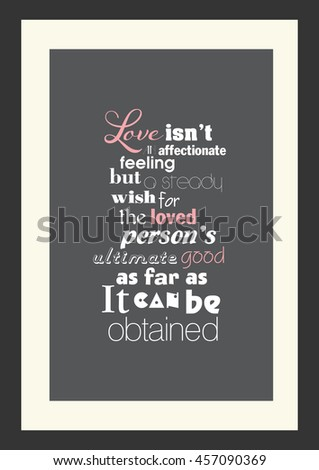 Wedding Quote Romantic Quote Love Not Stock Vector Royalty Free