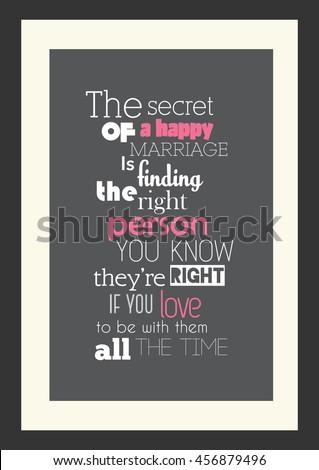 Wedding Quote Romantic Quote Secret Happy Stock Vector Royalty Free