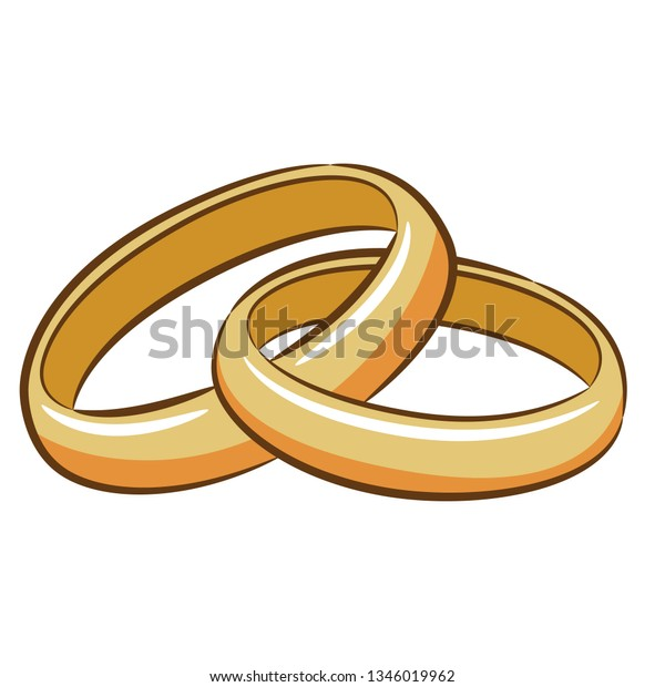 Wedding Ring Clipart Stock Vector Royalty Free 1346019962