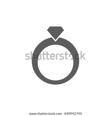 Wedding Ring Icon Trendy Flat Style Stock Vector Royalty Free