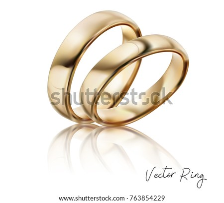 Wedding Ring Silver Gold Metal Diamonds Stock Vector Royalty Free