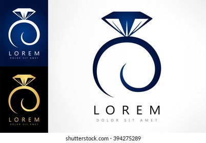 Wedding ring vector logo