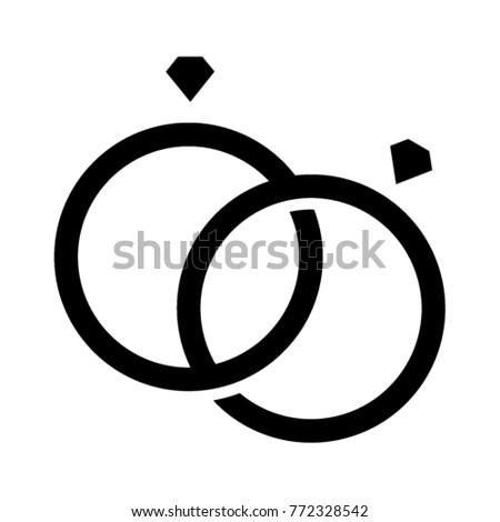 Wedding Rings Icon Vector Stock Vector Royalty Free 772328542