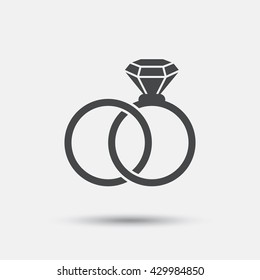 wedding rings logo images stock photos vectors shutterstock https www shutterstock com image vector wedding rings sign icon engagement symbol 429984850