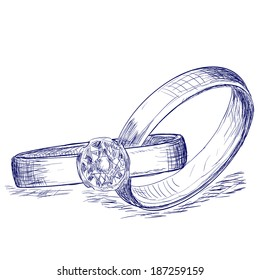 Art Pictures Of A Wedding Ring Pencil Sketch