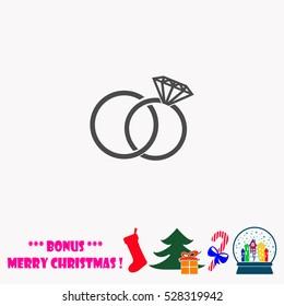 Wedding rings  vector illustration.