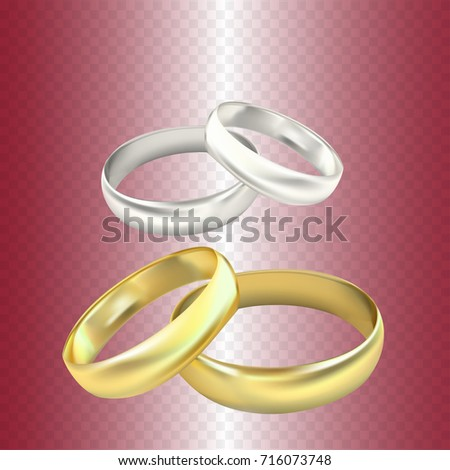 Wedding Rings Vector On Transparent Background Stock Vector Royalty