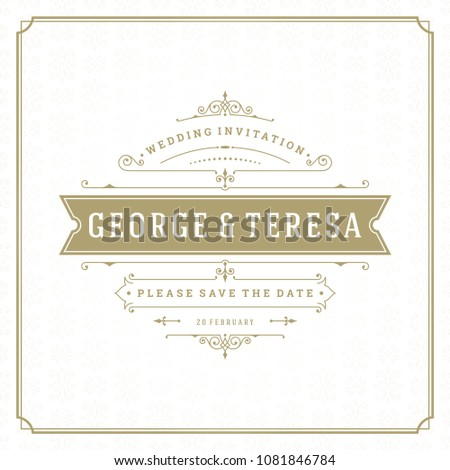 wedding save date invitation card vector stock vector royalty free