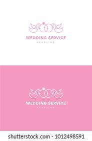 Wedding service logo template.