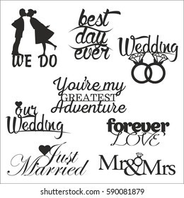 wedding signs vector