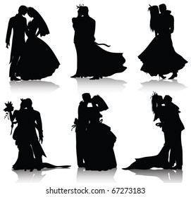 Wedding silhouettes(also available jpeg version of this image)