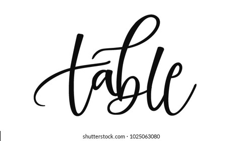 WEDDING TABLE | HAND LETTERING TABLE WRITING