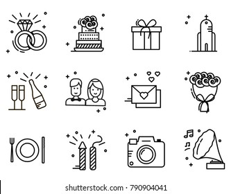 wedding icons images stock photos vectors shutterstock