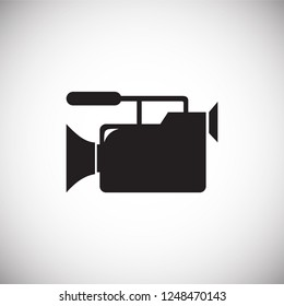 Wedding videography icon on white background for graphic and web design, Modern simple vector sign. Internet concept. Trendy symbol for website design web button or mobile app