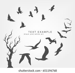 wedge of birds flying in the sky