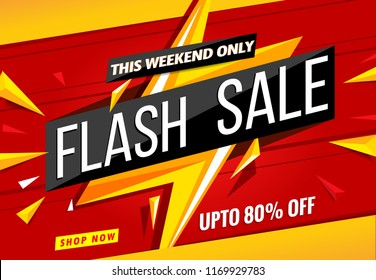 Weekend Flash Sale banner design template