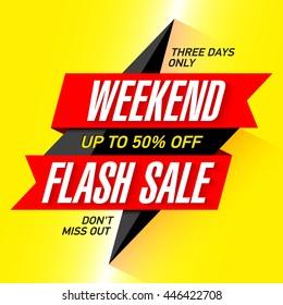 Weekend Flash Sale banner design template