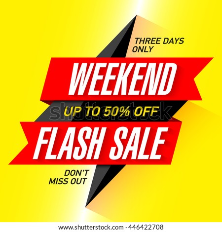 2e251293bb Vetor stock de Weekend Flash Sale Banner Design Template (livre de ...