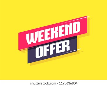 Weekend Offer Label