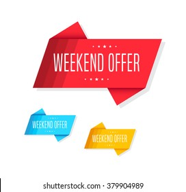 Weekend Offer Tags