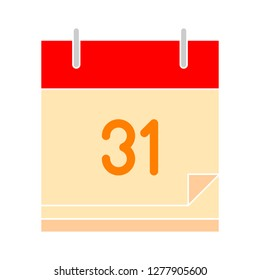 weekly calendar. calendar design icon - agenda isolated, organizer illustration - Vector calendar