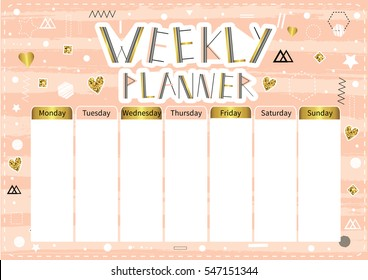 photo about Cute Weekly Planners called Weekly Planner Photographs, Inventory Illustrations or photos Vectors Shutterstock