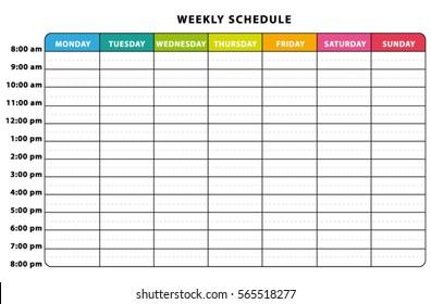 weekly planner images, stock photos & vectors | shutterstock