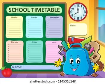 school timetable images stock photos vectors shutterstock
