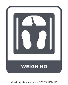 weighing icon vector on white background, weighing trendy filled icons from Electronic devices collection, weighing simple element illustration