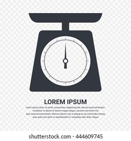 Weighing scales icon - Vector