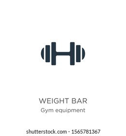 Weight bar icon vector. Trendy flat weight bar icon from gym and fitness collection isolated on white background. Vector illustration can be used for web and mobile graphic design, logo, eps10
