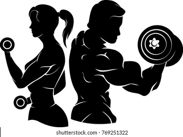 Weight Fitness Silhouette