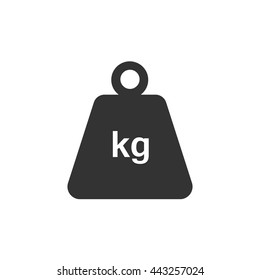 Weight icon. Flat vector illustration in black on white background. EPS 10