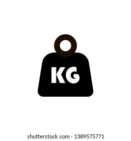 weight icon, kilo symbol, mass vector
