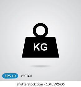 Weight Icon in trendy flat style isolated on grey background. Symbol for your web site design, logo, app, UI. Vector illustration, EPS10. Creative modern design.