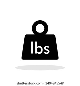 Weight icon in trendy flat style. Mass / LBS  symbol for your web site design, logo, app, UI Vector EPS 10.
