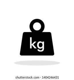 Weight icon in trendy flat style. Mass / KG  symbol for your web site design, logo, app, UI Vector EPS 10.