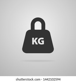 Weight Icon in trendy flat style isolated on gray background. Mass symbol for your web site design, logo, app, UI. Vector illustration.