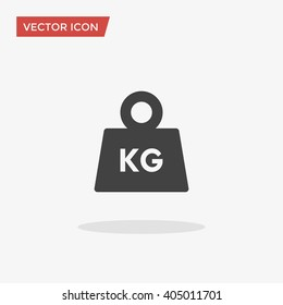 Weight Icon in trendy flat style isolated on grey background. Mass symbol for your web site design, logo, app, UI. Vector illustration, EPS10.