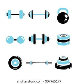 weight icons set