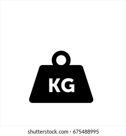 Weight kilogram icon in trendy flat style isolated on background. Weight kilogram icon page symbol for your web site design Weight kilogram icon logo, app, UI. Weight kilogram icon Vector illustration