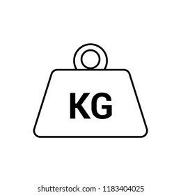 Weight kilogram icon. Vector isolated icon.