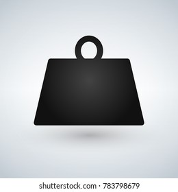 Weight kilogram pounds icon in trendy flat style isolated on background.