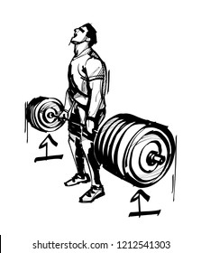 the weight lifter push up the biggest weight