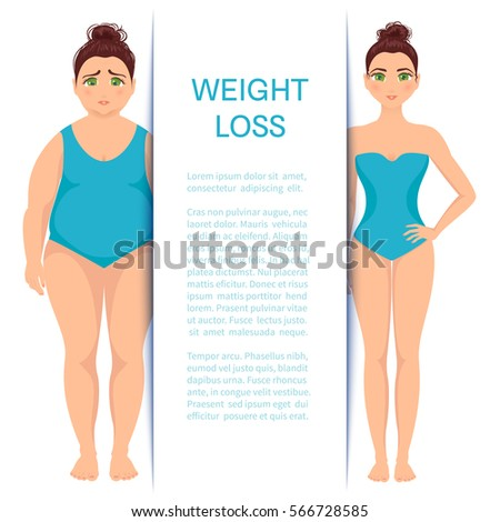 weight loss design template place your stock vector royalty free