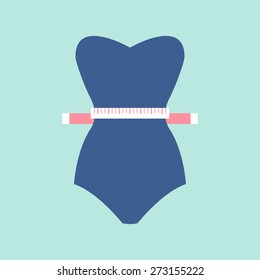 Weight loss icon. Vector illustration