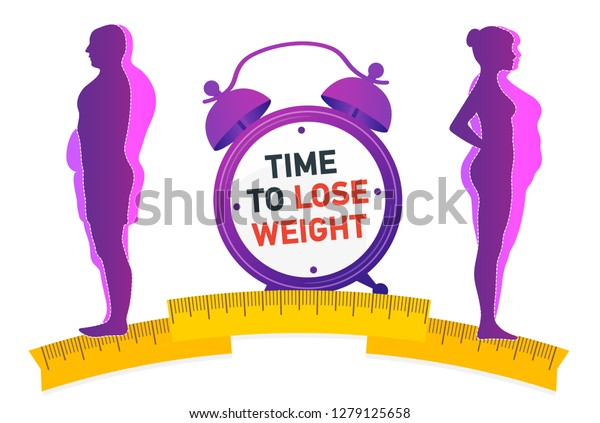 Weight Loss Influence Diet On Weight Stock Vector (Royalty
